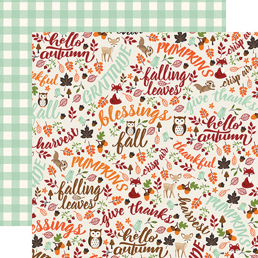 Echo Park Papers - My Favorite Fall - Hello Autumn - 2 Sheets