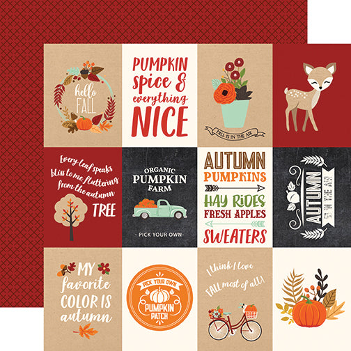 Echo Park Cut-Outs - My Favorite Fall - 3x4 Journaling Cards