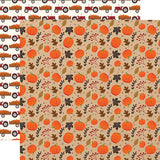 Echo Park Papers - My Favorite Fall - Pumpkin Patch - 2 Sheets