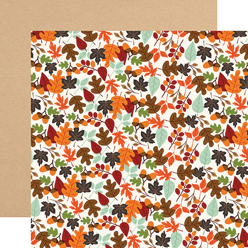 Echo Park Papers - My Favorite Fall - Falling Leaves - 2 Sheets