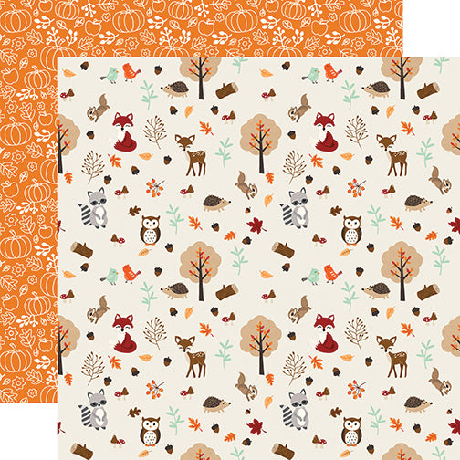 Echo Park Papers - My Favorite Fall - Fall Friends - 2 Sheets