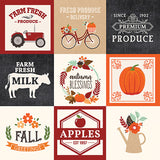 Echo Park Cut-Outs - My Favorite Fall - 4x4 Journaling Cards