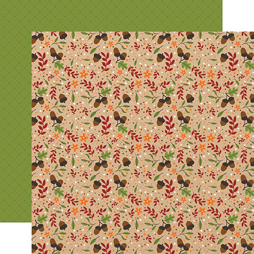 Echo Park Papers - My Favorite Fall - Autumn Acorns - 2 Sheets