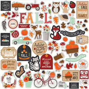 Echo Park 12x12 Cardstock Stickers - My Favorite Fall - Elements
