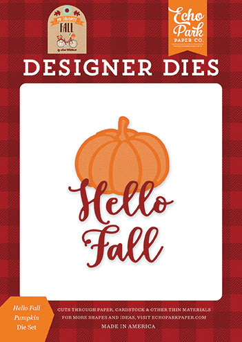 Echo Park Designer Dies - My Favorite Fall - Hello Fall Pumpkin Die Set