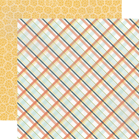 Echo Park Papers - Made from Scratch - Country Plaid - 2 Sheets