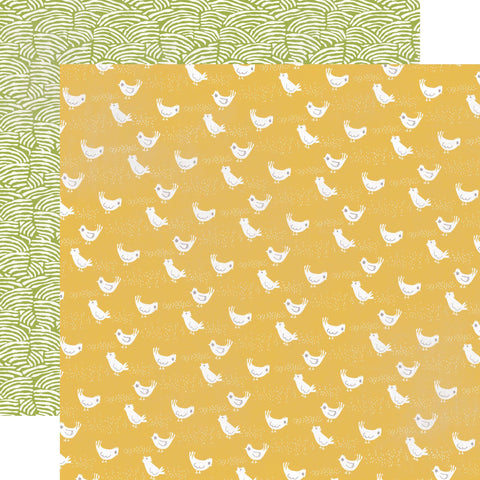 Echo Park Papers - Made from Scratch - Cheerful Chickens - 2 Sheets