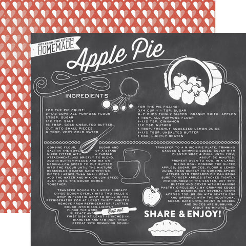 Echo Park Papers - Made from Scratch - Apple Pie - 2 Sheets