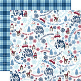 Echo Park Papers - My Favorite Winter - Stay Warm - 2 Sheets