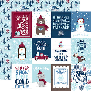 Echo Park Cut-Outs - My Favorite Winter - 3x4 Journaling Cards