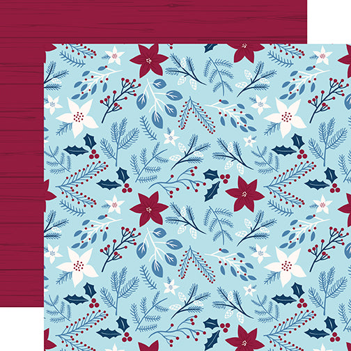 Echo Park Papers - My Favorite Winter - Winter Floral - 2 Sheets