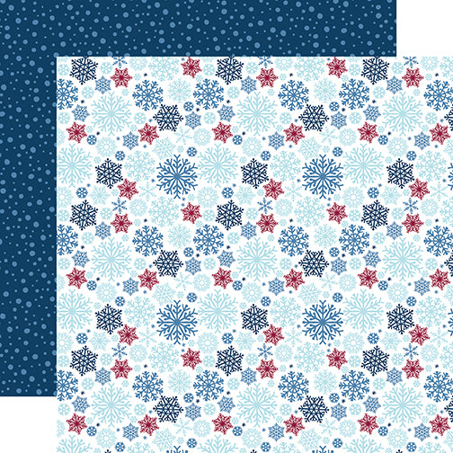 Echo Park Papers - My Favorite Winter - Snow Much Fun - 2 Sheets