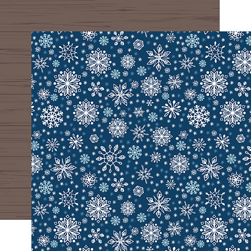 Echo Park Papers - My Favorite Winter - Sparkling Snowflakes - 2 Sheets