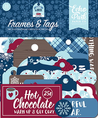 Echo Park Frames & Tags Die-Cuts - My Favorite Winter
