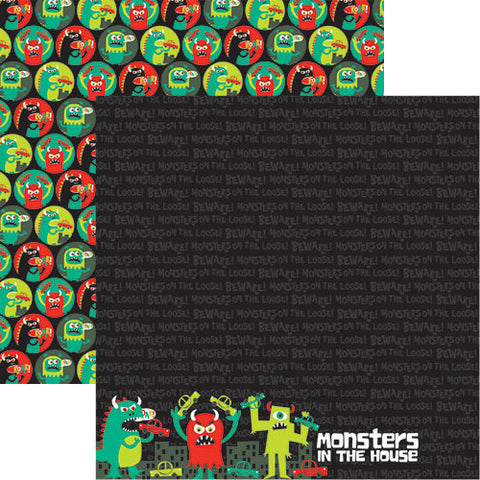 Reminisce Papers - Monsters In the House - Monsters In the House - 2 Sheets