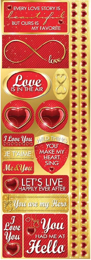 Reminisce Long Cardstock Stickers - Magical Love