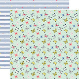 Echo Park Papers - I Am Mom - Sweet Butterflies - 2 Sheets