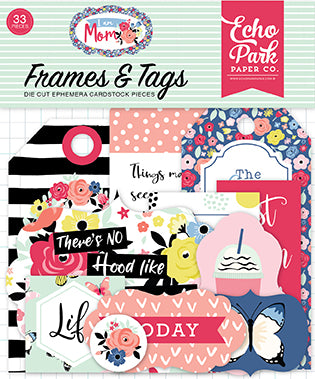 Echo Park Frames & Tags Die-Cuts - I Am Mom