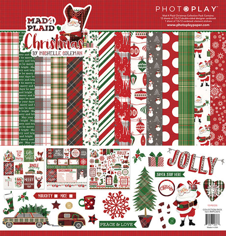 Photo Play Paper Collection Kit - Mad 4 Plaid - Christmas