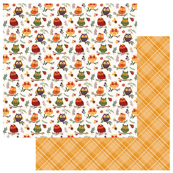 Photo Play Papers - Mad 4 Plaid - Fall - Whoo Loves You - 2 Sheets