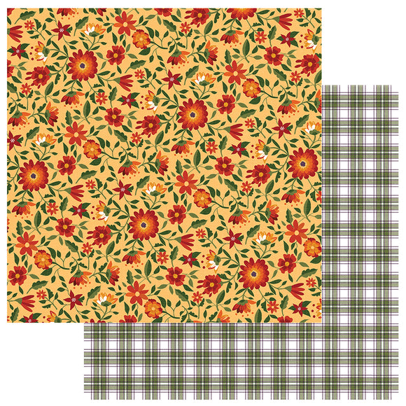 Photo Play Papers - Mad 4 Plaid - Fall - Blessed - 2 Sheets