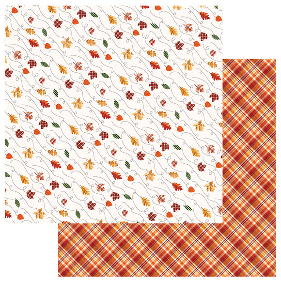 Photo Play Papers - Mad 4 Plaid - Fall - Leaves Are Falling - 2 Sheets