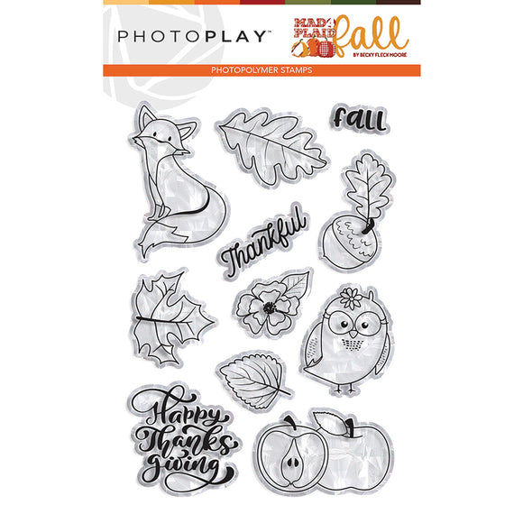 Photo Play Clear Stamp Set - Mad 4 Plaid - Fall