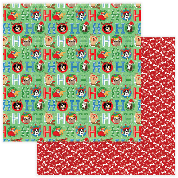 Photo Play Papers - The Muttcracker - Ho Ho Ho - 2 Sheets