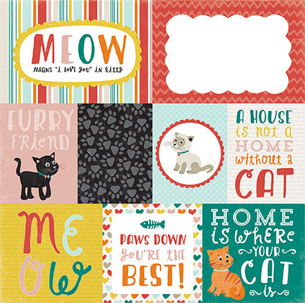 Echo Park Cut-Outs - Meow - Journaling Cards