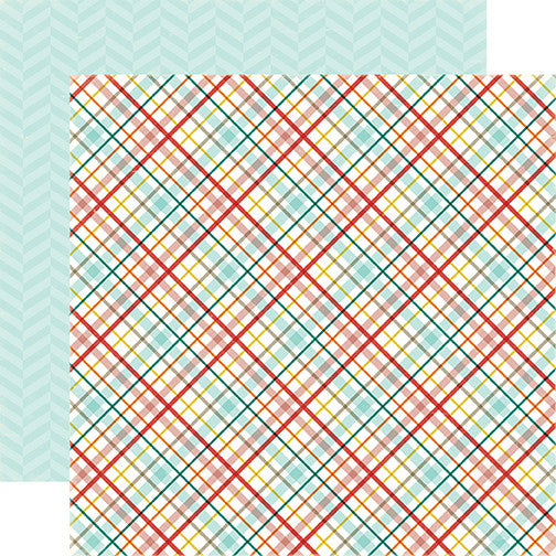 Echo Park Papers - Meow - Kitty Plaid - 2 Sheets