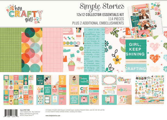 Simple Stories Emellishment/Collection Kit - Crafty Girl