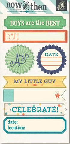 My Mind's Eye Cardstock Stickers - Now & Then - Boys