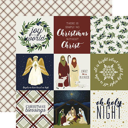 Echo Park Cut-Outs - Oh Holy Night - 4x4 Journaling Cards