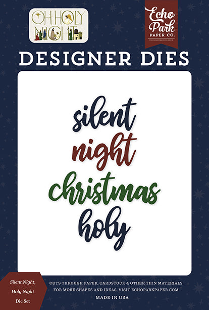 Echo Park Designer Dies - Oh Holy Night - Silent Night, Holy Night Die Set