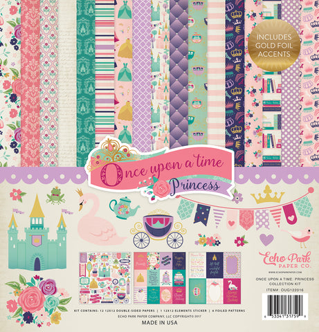 Echo Park Collection Kit - Once Upon a Time - Princess - Girl