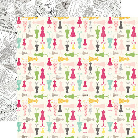 Echo Park Papers - Petticoats - Darling Dresses - 2 Sheets