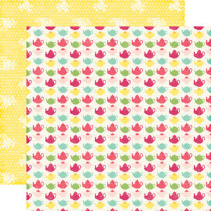 Echo Park Papers - Petticoats - Tiny Teapots - 2 Sheets