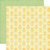 Echo Park Papers - Petticoats - Sunny Damask - 2 Sheets