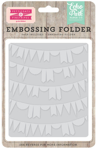 Echo Park Embossing Folder - Curved Pennant