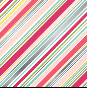 Echo Park Papers - Petticoats - Diagonal Stripe Foil - 2 Sheets
