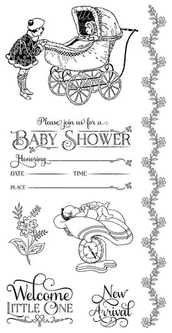 Graphic 45 Cling Mounted Rubber Stamp Set - Precious Memories (B)