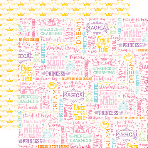 Echo Park Papers - Perfect Princess - Wish Come True - 2 Sheets