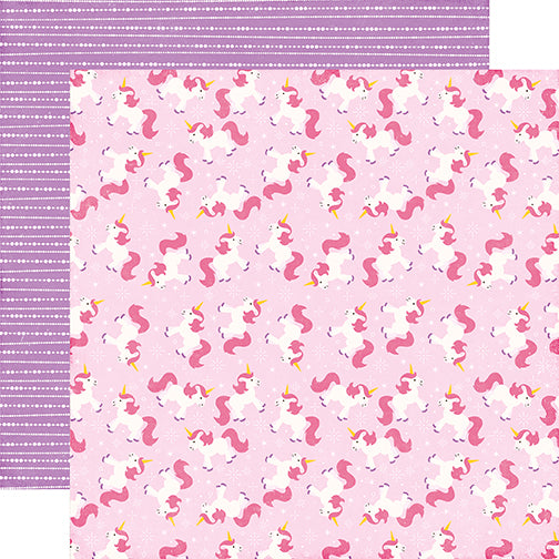 Echo Park Papers - Perfect Princess - Magical Unicorn - 2 Sheets