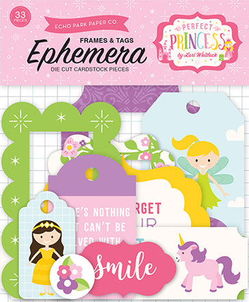 Echo Park Frames & Tags Die-Cuts - Perfect Princess
