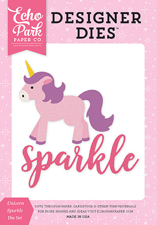 Echo Park Designer Dies - Perfect Princess - Unicorn Sparkle Die Set