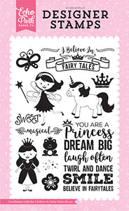 Echo Park Clear Stamp Set - Perfect Princess - I Believe In Fairy Tales