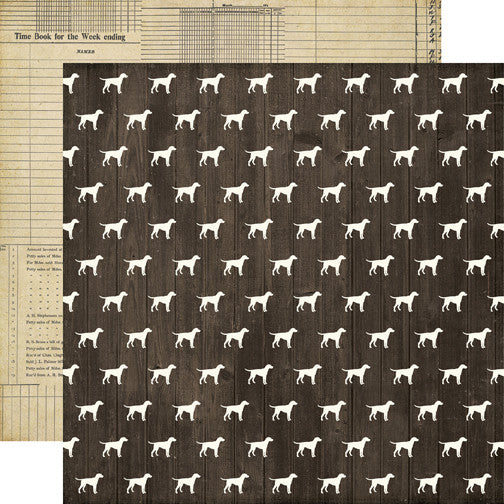 Echo Park Papers - Pinstripes - Dog Days - 2 Sheets
