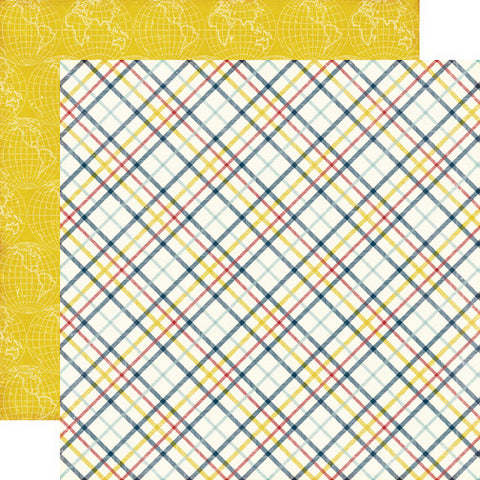 Echo Park Papers - Pinstripes - Lad Plaid - 2 Sheets