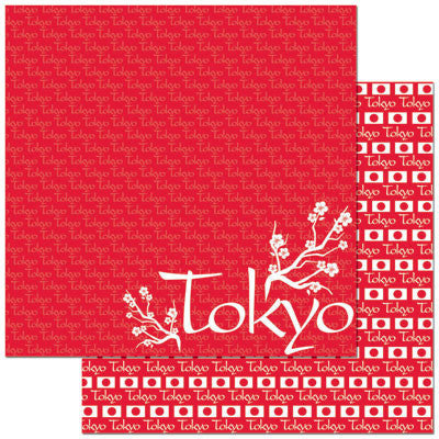 Reminisce Papers - Passports - Tokyo - 2 Sheets