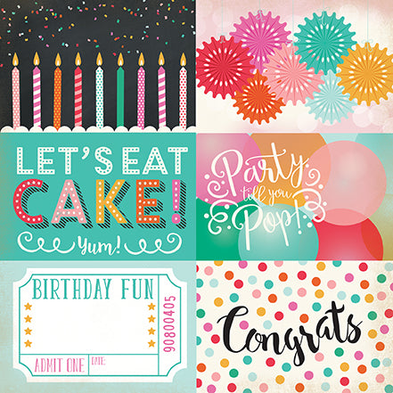 Echo Park Cut-Outs - Party Time - 4x6 Journaling Cards